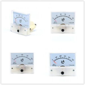 50ua To 30a Dc Ammeter 85c1 Analog Panel Meter Ammeter Amperemeter 65 56mm Il