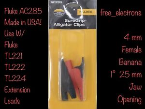 Fluke Ac 285 Multimeter Alligator Clip Test Lead Tl 221 222 224 71 75 175 Tp 2 1