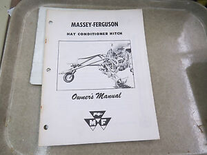 Massey ferguson Hay Conditioner Hitch Owner s Manual