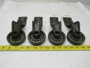 4 I beam Trolley X458 Chain Overhead Conveyor 8 Drop 4 halves Lot Of 4