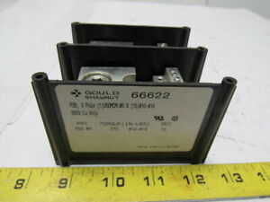 Gould Shawmut 66622 Intermediate Power Distribution Block 2 Pole 600v