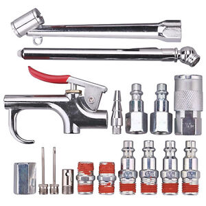 Wynnsky Air Compressor Accessory Kit 1 4 Inch Npt 17 Piece Air Hose Fitting