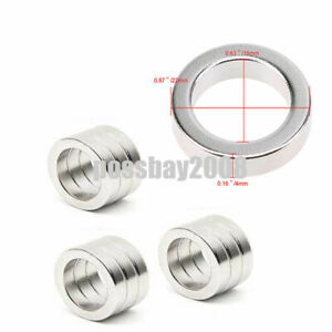 22 4 16mm Round Disc Ring Hole Rare Earth Neodymium Super Strong Magnets N52