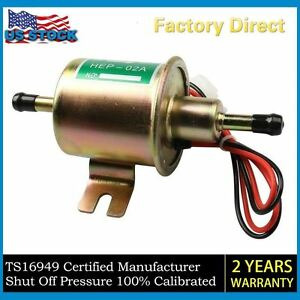 Universal Gas Diesel Inline Low Pressure Electric Fuel Pump 12v 4 7 Psi Ep12s