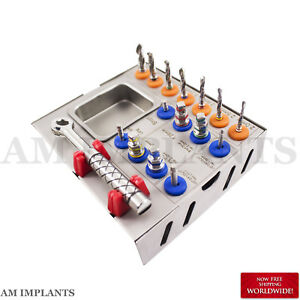 Surgical Drill Kit Dental Implants Drills Drivers Ratchet Tool Ce