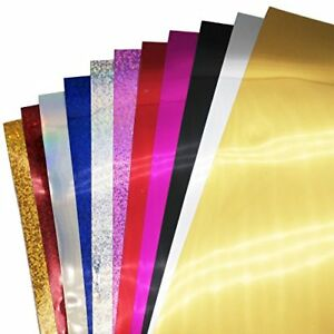New Sequin Heat Transfer Vinyl 5 Sheets And Glitter Heat Transfer Vinyl 6 She