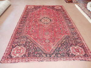 Ca1880s Vg Dy Antique Persian Ghashghaee Yalameh Serapi 5 4x8 2 Estate Sale Rug