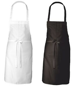 24 Black White Adult Unisex Commercial Restaurant Kitchen Bib Apron Adjustable