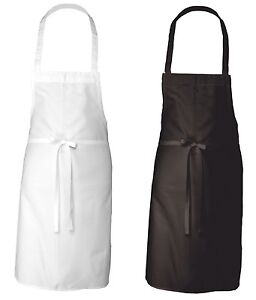 Restaurant 200 Black White Adult Unisex Commercial Kitchen Bib Apron Adjustable