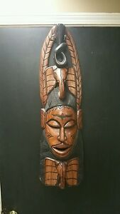Large Beautiful Antique African Hand Carved Tribal Mask 35inch