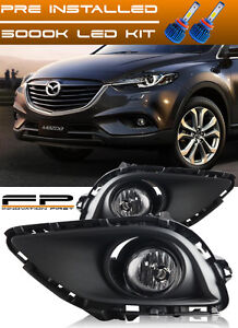 Led 2013 2014 2015 Mazda Cx 9 Clear Bumper Fog Light Kit Include Wiring Harness