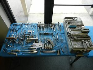 Aesculap Codman V Mueller Zimmer Surgical Orthopedic Instrument Set W Case