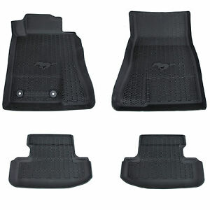 Oem New 2015 2019 Ford Mustang All Weather Tray Style Rubber Contour Floor Mats