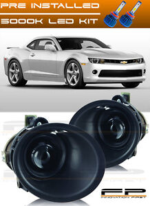 2014 2015 Chevy Camaro 3 6l V6 Clear Lens Projector Fog Light Lamp Kit Led Kit