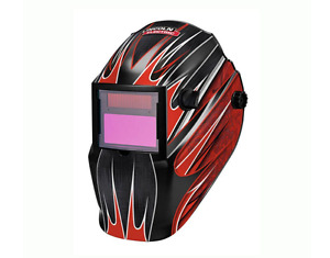 Lincoln Electric Welding Helmet Red Fierce Variable shade Auto darkening Durable