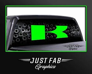 Kawasaki Rear Window Perf Graphic Decal Tint Truck Suv Chevy Ford