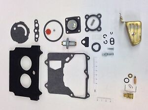 Motorcraft 2100 Carburetor Kit 1974 1980 Amc Jeep 304 360 Engine Brass Float