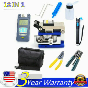 10in1 Fiber Optic Ftth Tool Kit Fc 6s Fiber Cleaver Power Meter Finder Plier bag