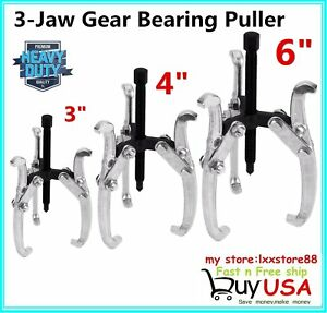 3pc 3 Jaw Gear Pulley Bearing Puller Set 3 4 6 Small Leg Large Mechanics Hmx