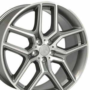 20x9 Wheel Fits Ford Lincoln Explorer Style Gunmetal Mach D Face Rims 10061 Set