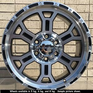 4 New 18 Wheels Rims For Gmc K 1500 K 2500 6 Lug 25015