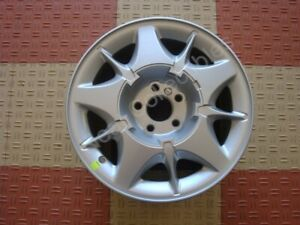 Nos Oem Lincoln Continental 16 Sparkle Silver 5 Spoke Aluminum Wheel 1998