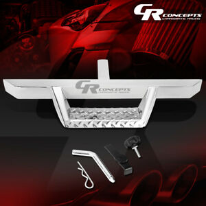 32 5 x 2 25 universal Chrome Trailer Tow Hitch Step Bar pin clip Fit 2 Receiver
