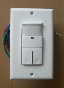 2 Pole Occupancy Vacancy Wall Motion Sensor 120vac 2p Dual Switch White