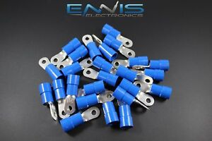 6 Gauge Vinyl 10 Ring 100 Pk Crimp Terminal Connector Awg Ga Car Eye Bvrt610