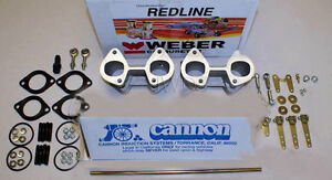 Bmw 2002 Cannon Intake Manifold For Use With Dual Weber 40 Or 45 Dcoe