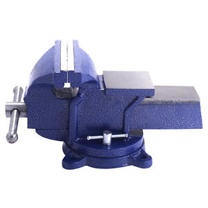 4 Mechanic Bench Vise Table Top Clamp Press Locking Swivel Base Heavy Duty
