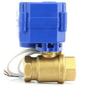 Brass Motorized Ball Valve G1 Dc12v Electric Ball Valve G1 Dc12v Free Shipping
