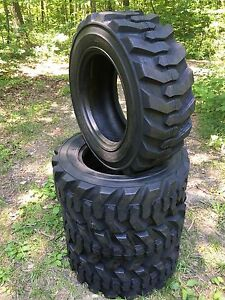 4 10x16 5 Deestone Skid Steer Tires 10 16 5 10 Ply For Bobcat And More
