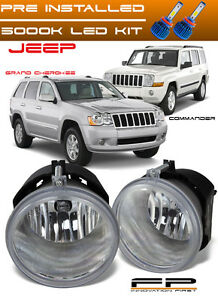 Led 2005 2010 Jeep Grand Cherokee 2006 2010 Commander Replacement Fog Light