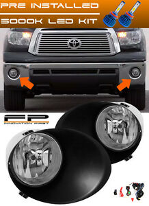 Led 07 13 Toyota Tundra Clear Fog Lights Full Complete Kit metal Bumper Only