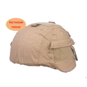 Tactical Airsoft Military MICH 2000 Ver2 Helmet Cover With Back Pouch CB Color