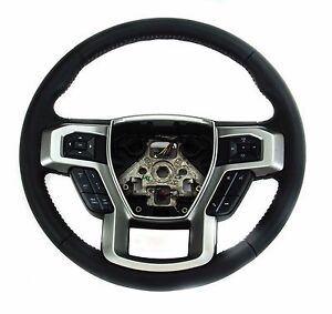 Oem New 17 18 Ford Truck F 150 Black Leather Steering Wheel Assembly Hl3z3600gc