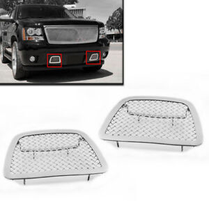 2007 Avalanche Suburban Tahoe Chrome Front Bumper Mesh Grille Grill Insert New