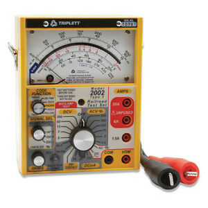 Analog Railroad Tester 600v 30a scale Triplett 2012