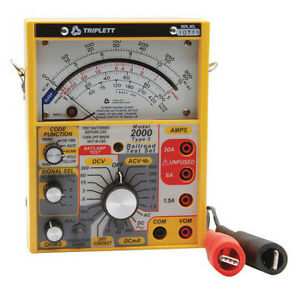 Analog Railroad Tester 600v 25 To 400 Hz Triplett 2010