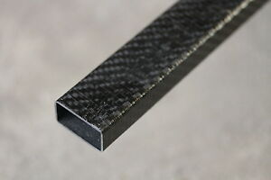 Carbon Fiber Rectangle Tube Twill Fabric 0 625 0 74 X 1 25 1 35 X 67 Inch
