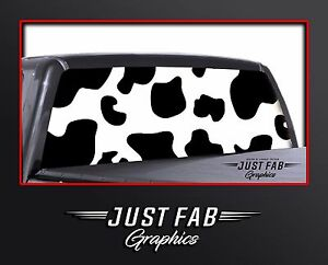 Cow Print Holstein Rear Window Perf Graphic Decal Tint Truck Suv Chevy Ford
