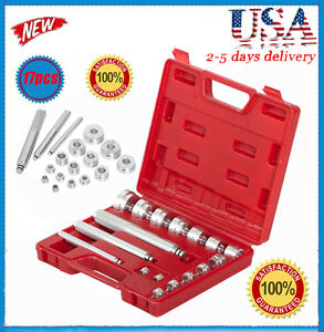 17pcs Bearing Race Seal Driver Master Tool Set Aluminum Wheel Axle Set Us Hp