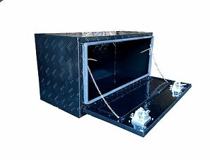 36 Aluminum Truck Underbody Underbed Tool Box Trailer Bed Rail Storage Black
