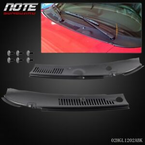 2pc For 99 04 Ford Mustang Windshield Improved Wiper Cowl Vent Grille Panel Hood