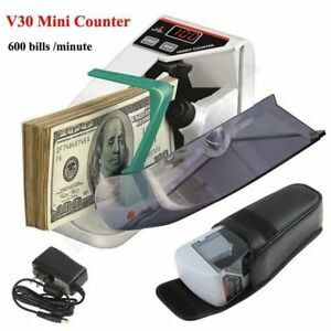 Portable Handy Mini Bill Currency Counter Paper Cash Money Counting Machine Ob