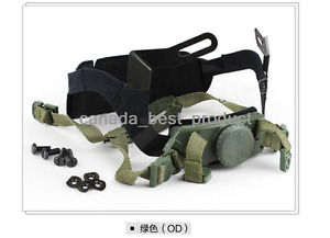 Tactical Airsoft Helmet Head Lock Buckle System Chin Strap fit PJ BJ MH Mich OD