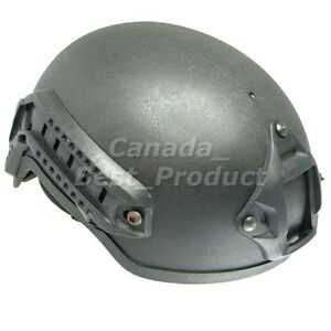 Airsoft Tactical Hunting MICH 2001 Helmet with Side Rail & NVG Mount Black