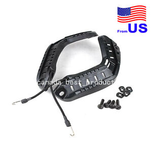 Tactical Airsoft FAST Helmet Side Rail ARC Accessories with Lanyard Black USA $14.39
