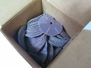 100 Pcs Standard Abrasives 7171248 Slotted Plain Cloth Discs Cd s 1 1 2 120 Ao